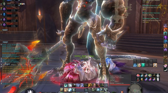 Random Aion Screenshot: Standing Alone in a Mass of Dead Daevas